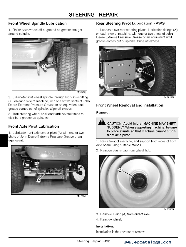 John deere lx277 parts manual