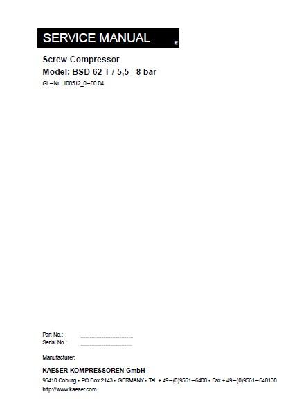 Kaeser sk 15 service manual