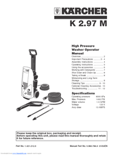 karcher pressure washer parts manual