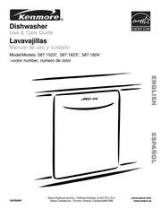 Kenmore dishwasher model 587 manual