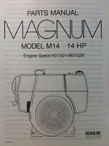 Kohler magnum 16 parts manual