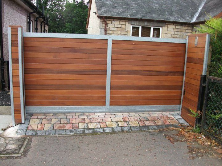 manual sliding wooden gates uk
