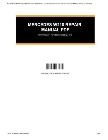 Mercedes w210 repair manual pdf