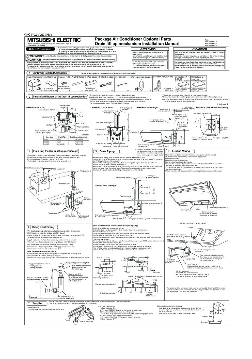 mitsubishi air conditioner manual japan