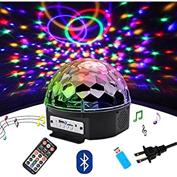 Mp3 led magic ball light instructions