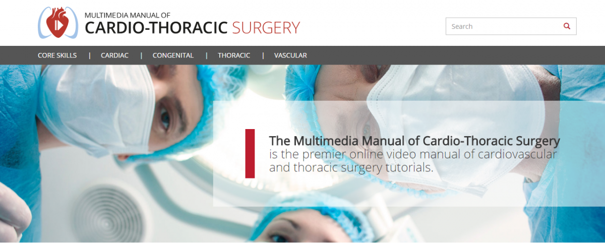 Multimedia manual of cardiothoracic surgery