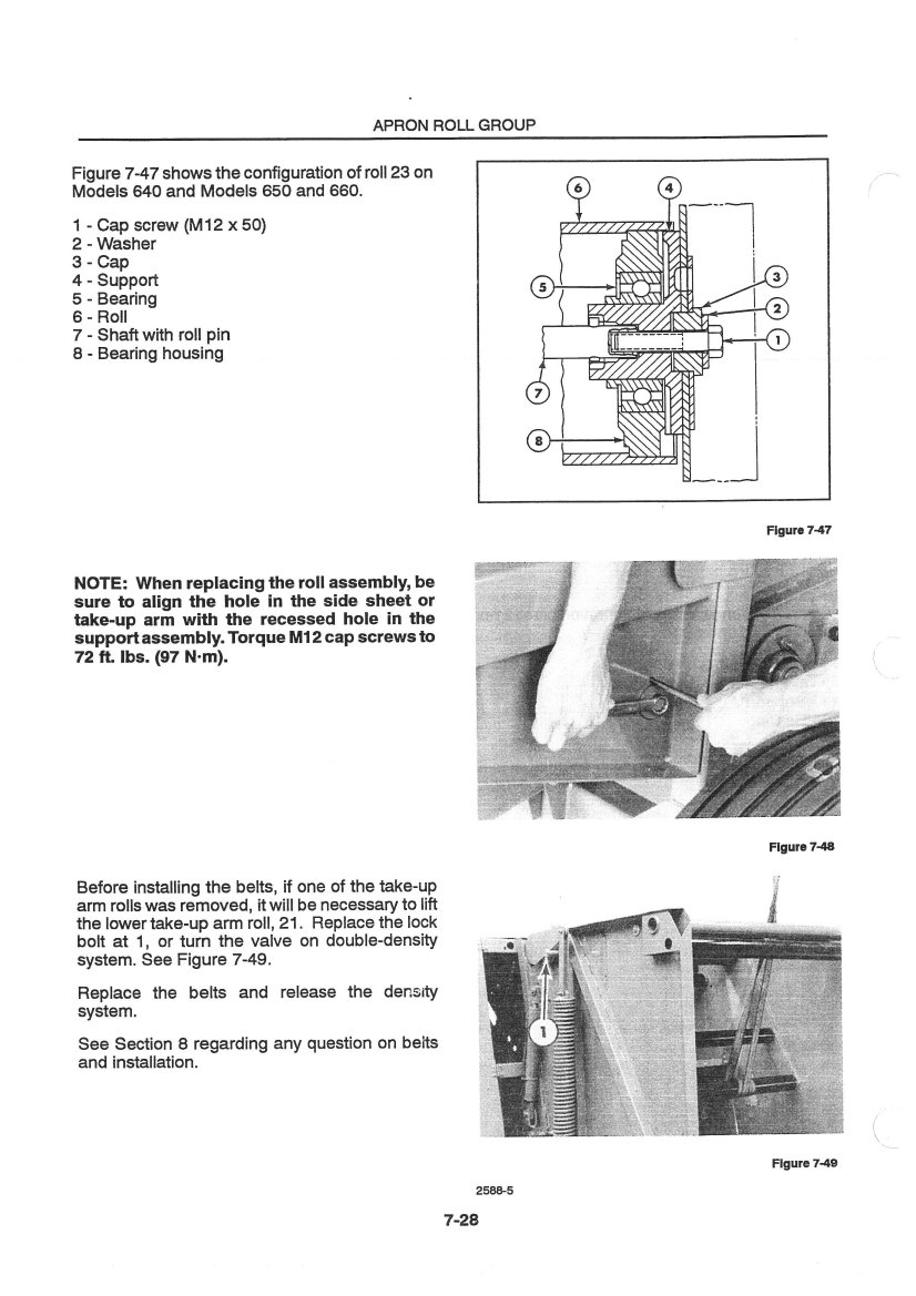 new holland 630 round baler service manual