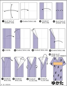 origami kimono folding instructions