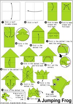 origami paper frog instructions