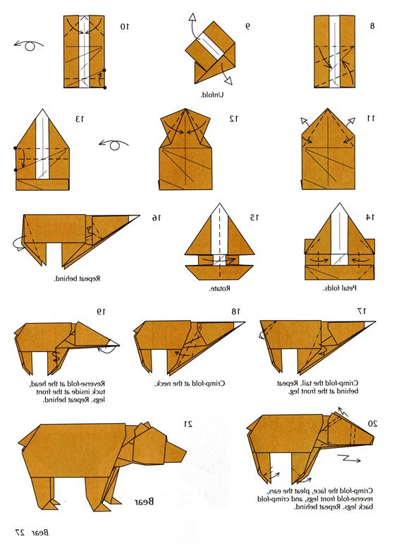 origami teddy bear instructions