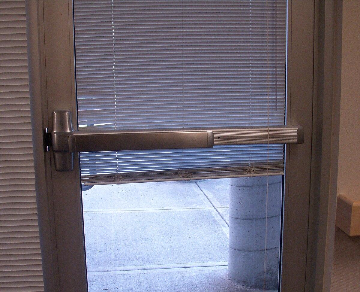 Panic bar door lock instructions