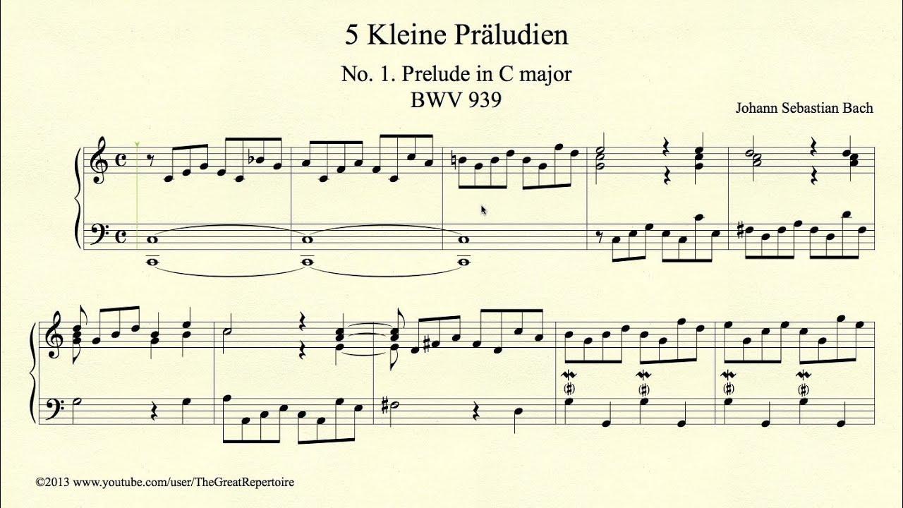 Prelude in c minor bach pdf