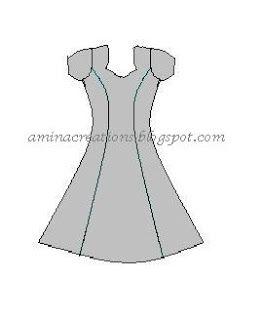 Princess line dress tutorial