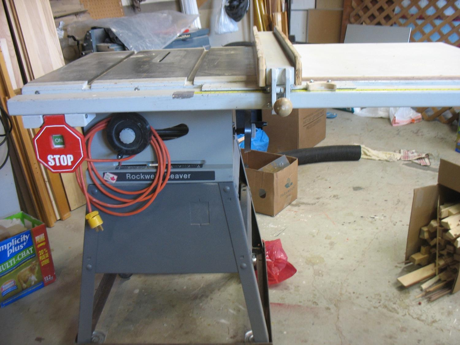 rockwell beaver table saw 6201 manual