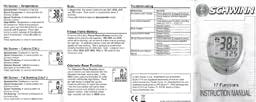 Schwinn 20 function bike computer manual