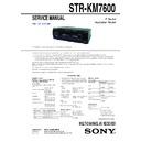 sony str km7 user manual