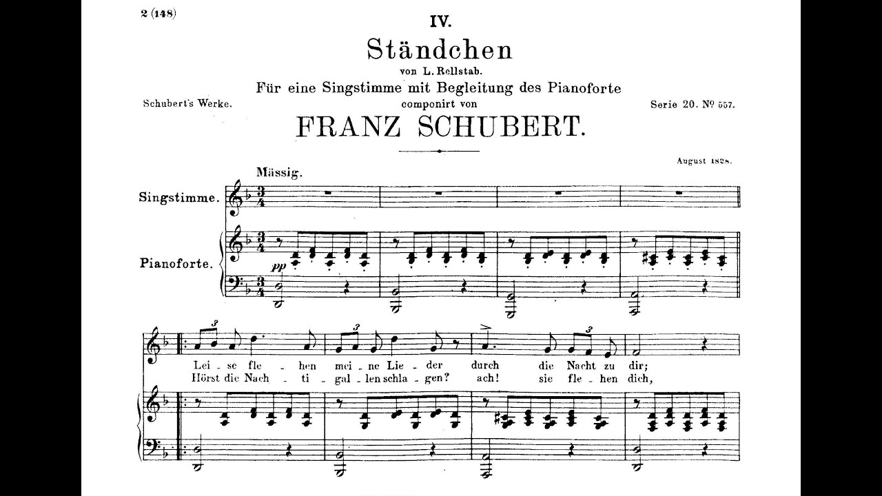 Standchen liszt sheet music pdf