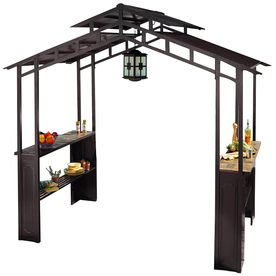 sunjoy brown steel rectangle grill gazebo instructions