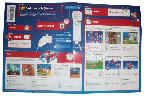 super mario galaxy instructions