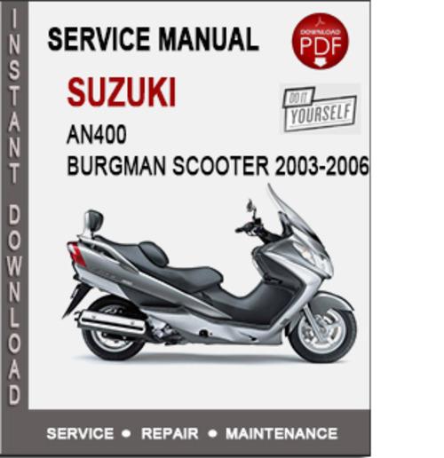 suzuki burgman 200 repair manual