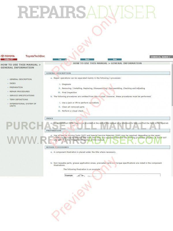toyota auris service manual pdf