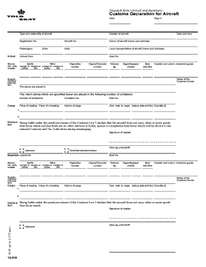 Us customs declaration form 6059b pdf