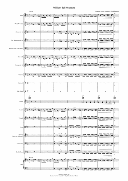 William tell overture sheet music pdf
