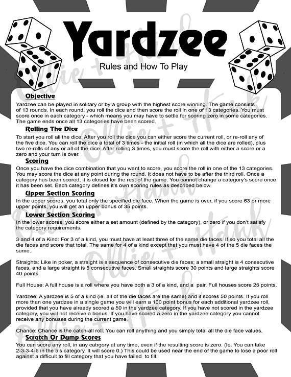 yahtzee free for all instructions
