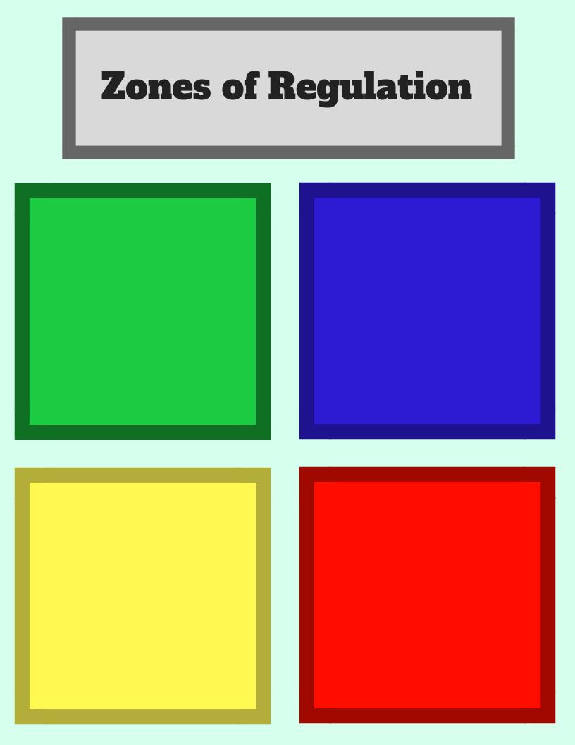 Zones of regulation curriculum pdf